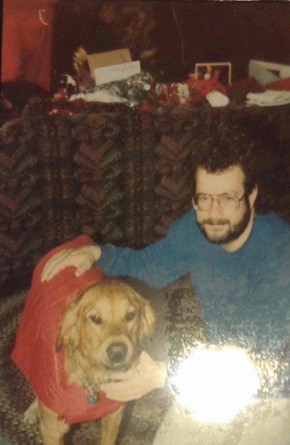 Randy Shilts with his dog Dash